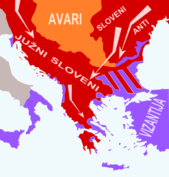 The settling of the Slavs (South Slavs) in the Byzantine Empire in the seventh century